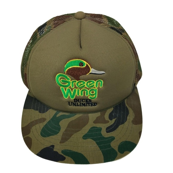 Ducks Unlimited Other - Ducks Unlimited Green Wing CAMO Snapback Hat Cap 4b5d134f988